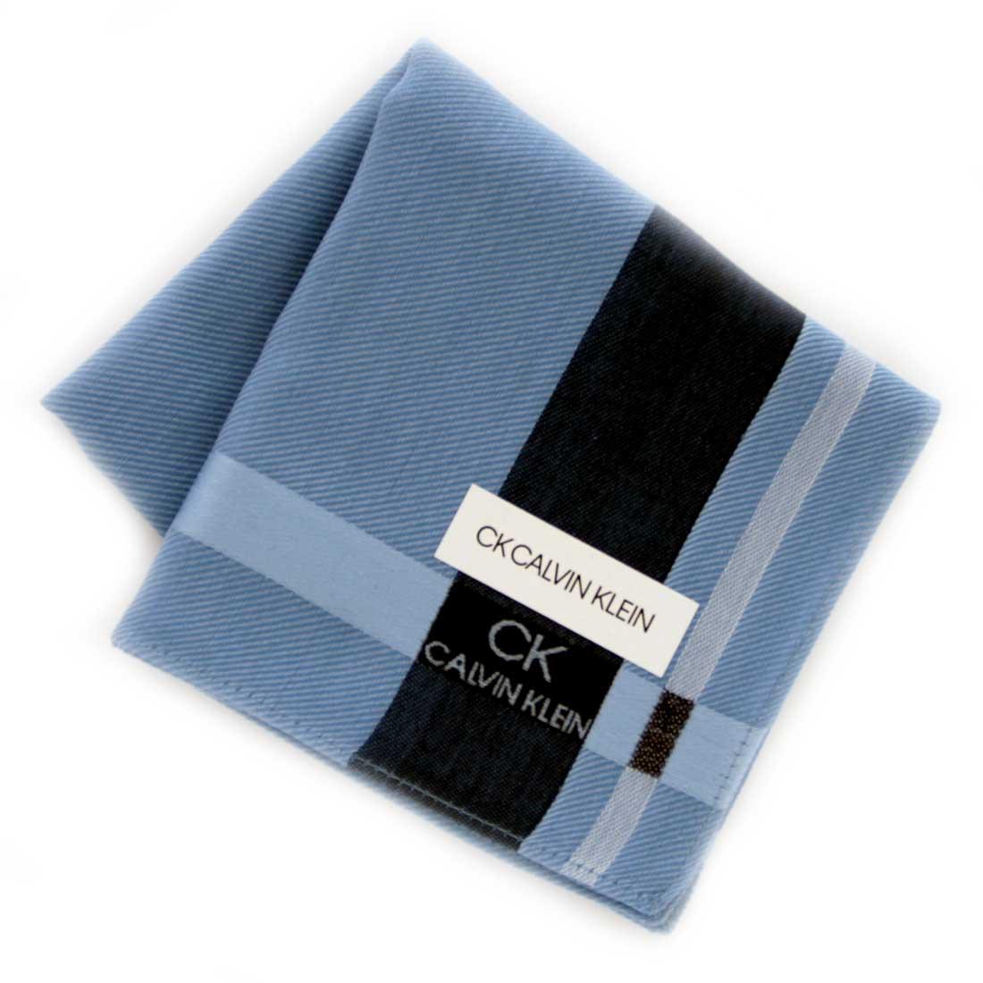 Calvin Klein 信頼 カルバン ※ラッピング ※ クライン 0251 メンズハンカチ ブルー
