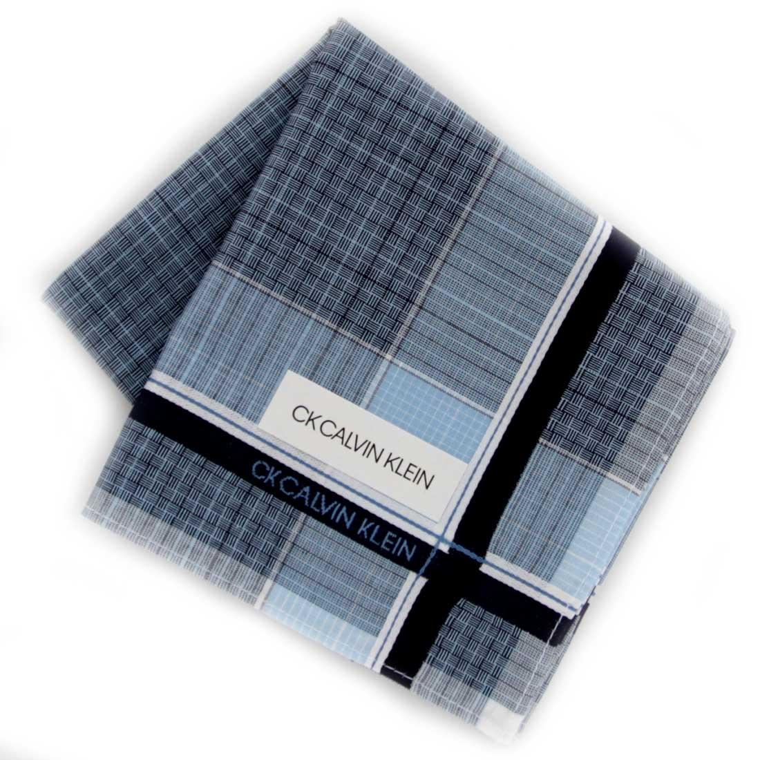 Calvin Klein カルバン クライン ブルー 超美品再入荷品質至上 メンズハンカチ 0253 再入荷/予約販売!