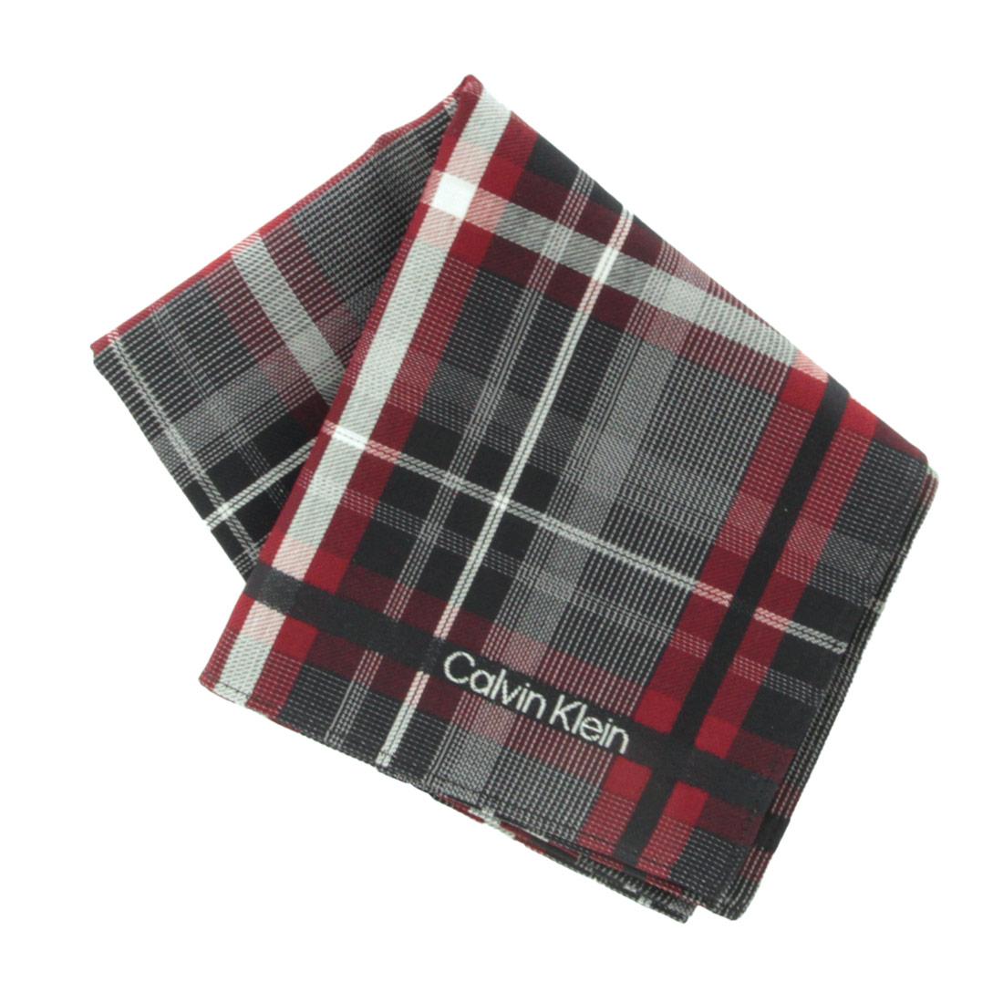 激安価格と即納で通信販売 Calvin Klein カルバン クライン グレー 1551 新品未使用正規品 メンズハンカチ
