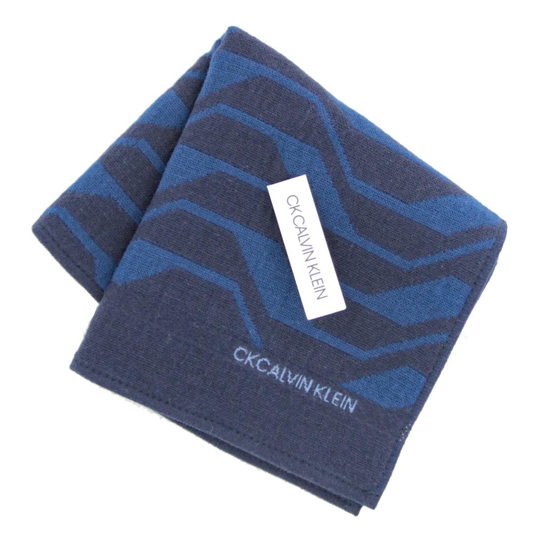 Calvin Klein カルバン クライン 0253 送料無料 新品 全品最安値に挑戦 ネイビー メンズタオルハンカチ