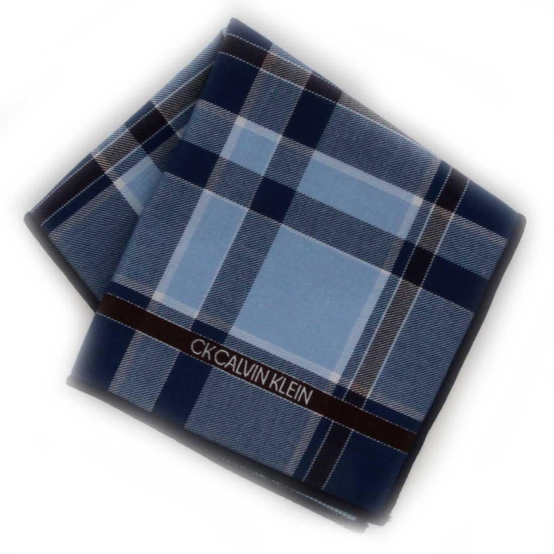 Calvin Klein スマホもメガネも拭けるハンカチ 2020新作 カルバン 0551 ブルー 専門店 クライン