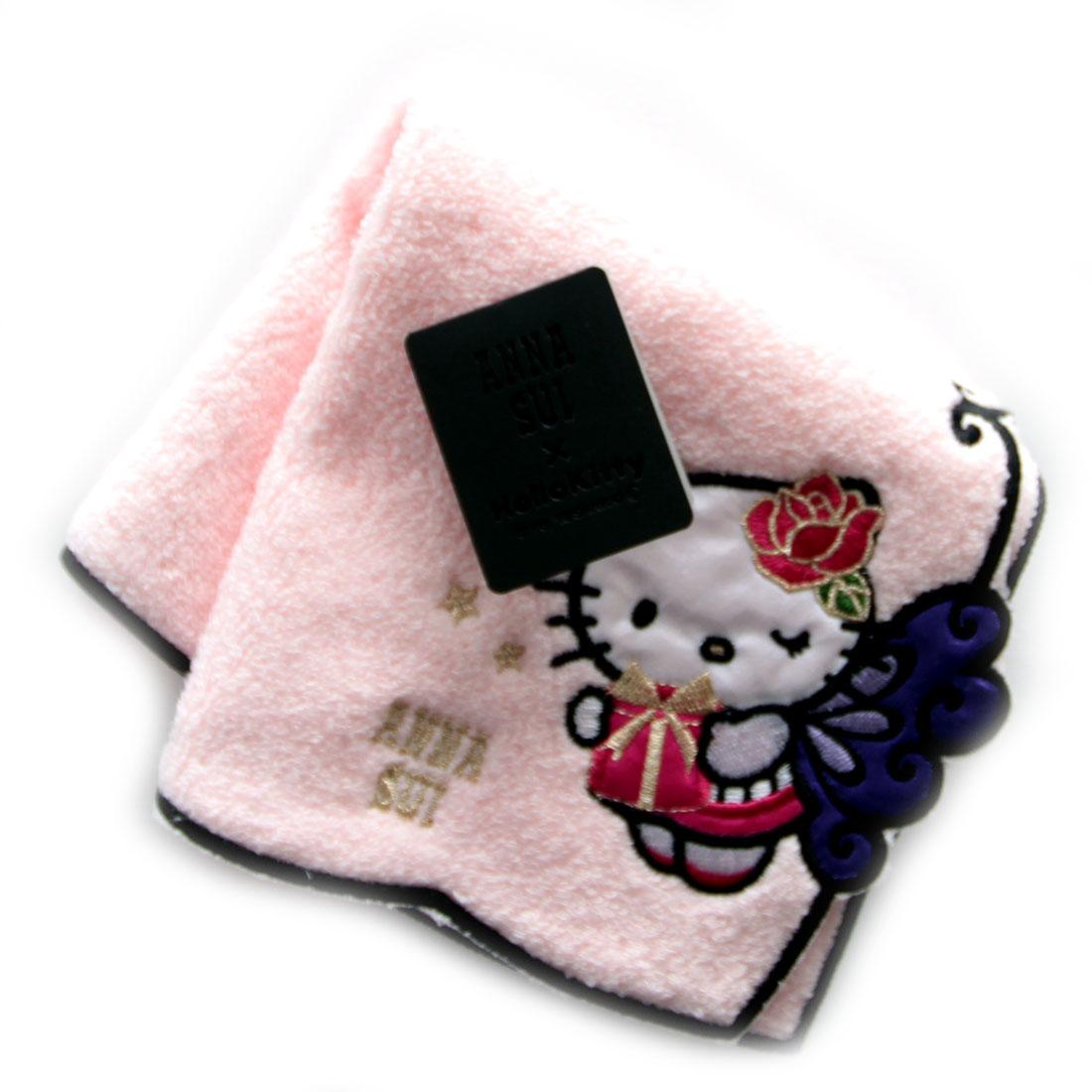 アナ スイ × キティ  タオルハンカチ 9701 ピンク【楽ギフ_包装】