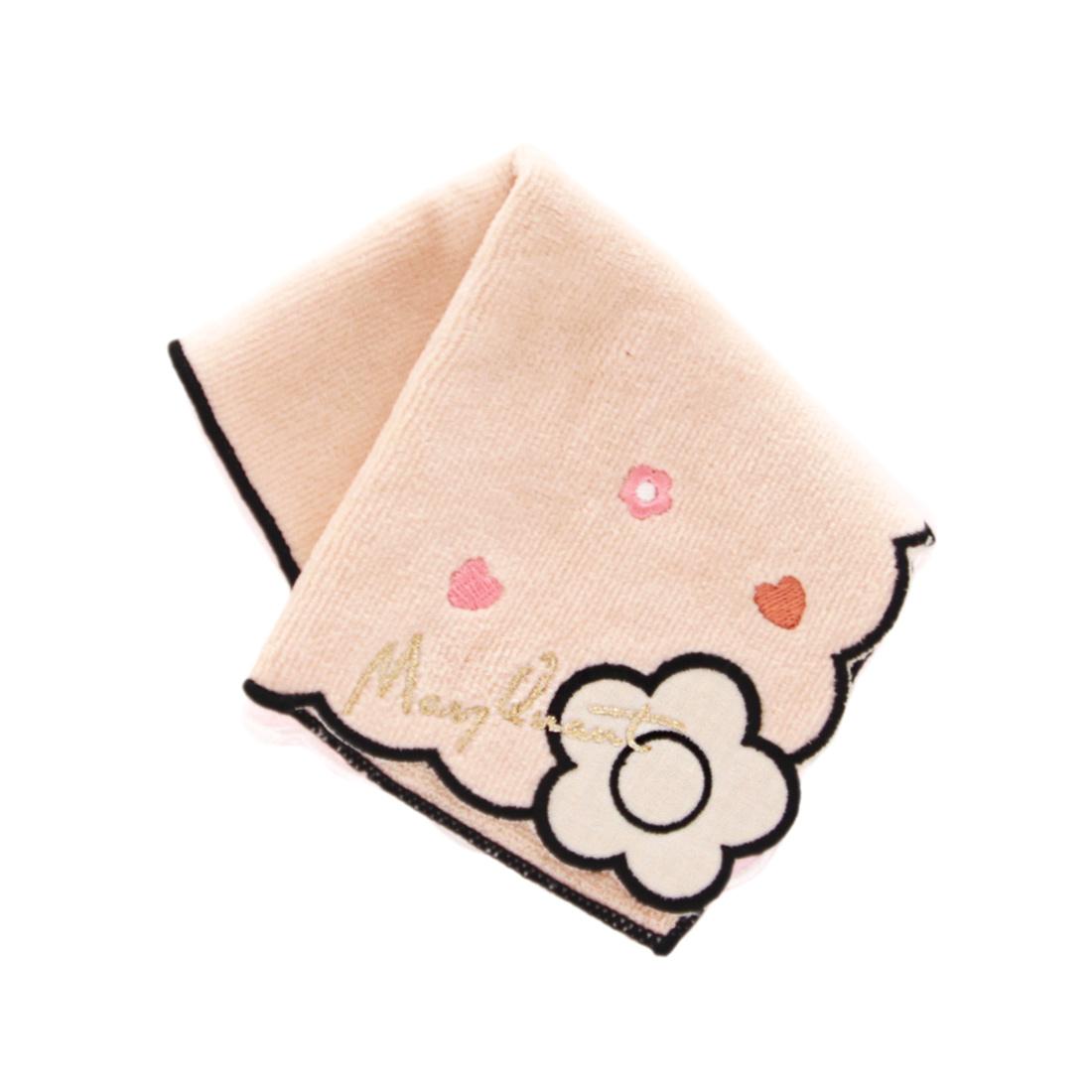 MARY QUANT マリークワント マリクワ ベージュ 日本全国 送料無料 1501 ミニタオルハンカチ マリークヮント 安心の定価販売