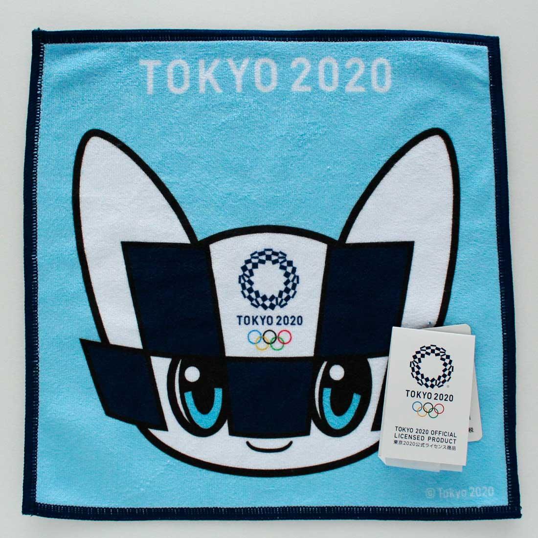 東京2020公式ライセンス商品 SALE 800円→300円 賜物 東京2020オリンピックマスコット 特価品コーナー☆ 0005 ブルー マルチハンカチーフ