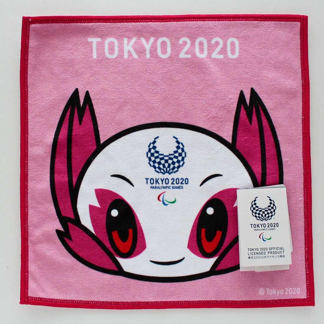 東京2020公式ライセンス商品 引出物 SALE 800円→300円 東京2020パラリンピックマスコット ピンク 最安値挑戦 マルチハンカチーフ 0001