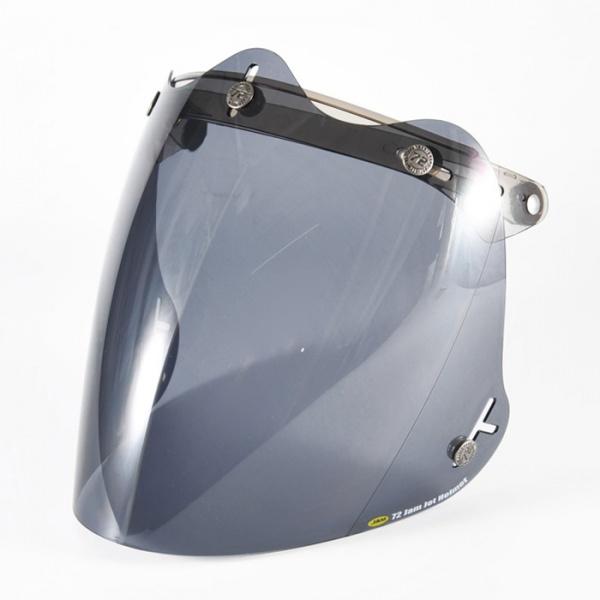 ジェットヘルメット シールド 贈答品 コンペシールド 汎用 72JAM 開閉式 日焼け防止 バイク アメリカン ハーレー CPSB-04 メンズ 人気の定番 濃いスモーク ジャムテックジャパン 3D 立体コンペシールド レディース ブラックスモーク ビッグスクーター
