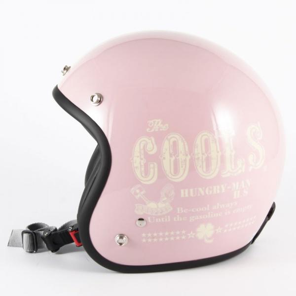 72JAM デザイナーズジェットヘルメット [HM-04]COOLS HUNGRY MANピンク レディース [ピンクベースグロス仕上げ]レディースサイズ(55-57cm未満) レディース SG規格 全排気量対応