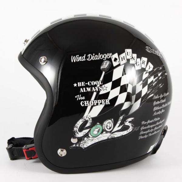スモールジェットヘルメット 72JAM ジャムテック バイク バイク用 アメリカン シングル ハーレー ビッグスクーター 旧車 メンズ レディース 男性用 女性用 72JAM デザイナーズジェットヘルメット [HMW-05]COOLS WIND DIALOGER ウィンドダイアロガー ブラック [ブラックベースグロス仕上げ]2サイズ メンズ レディース 兼用品 SG規格 全排気量対応