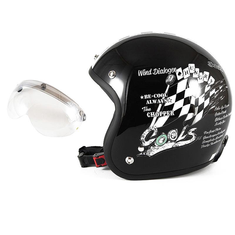 72JAM デザイナーズジェットヘルメット [HMW-05] 開閉シールド付き [APS-02]COOLS WIND DIALOGER ウィンドダイアロガー ブラック [ブラックベースグロス仕上げ]2サイズ メンズ レディース 兼用品 SG規格 全排気量対応