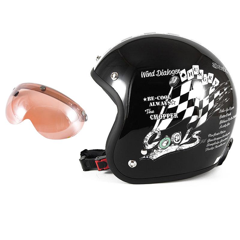 72JAM デザイナーズジェットヘルメット [HMW-05] 開閉シールド付き [APS-05]COOLS WIND DIALOGER ウィンドダイアロガー ブラック [ブラックベースグロス仕上げ]2サイズ メンズ レディース 兼用品 SG規格 全排気量対応