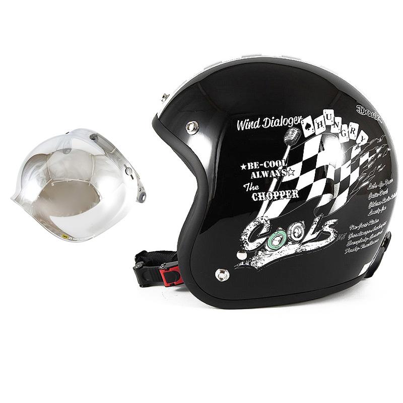 72JAM デザイナーズジェットヘルメット [HMW-05] 開閉シールド付き [JCBN-02]COOLS WIND DIALOGER ウィンドダイアロガー ブラック [ブラックベースグロス仕上げ]2サイズ メンズ レディース 兼用品 SG規格 全排気量対応