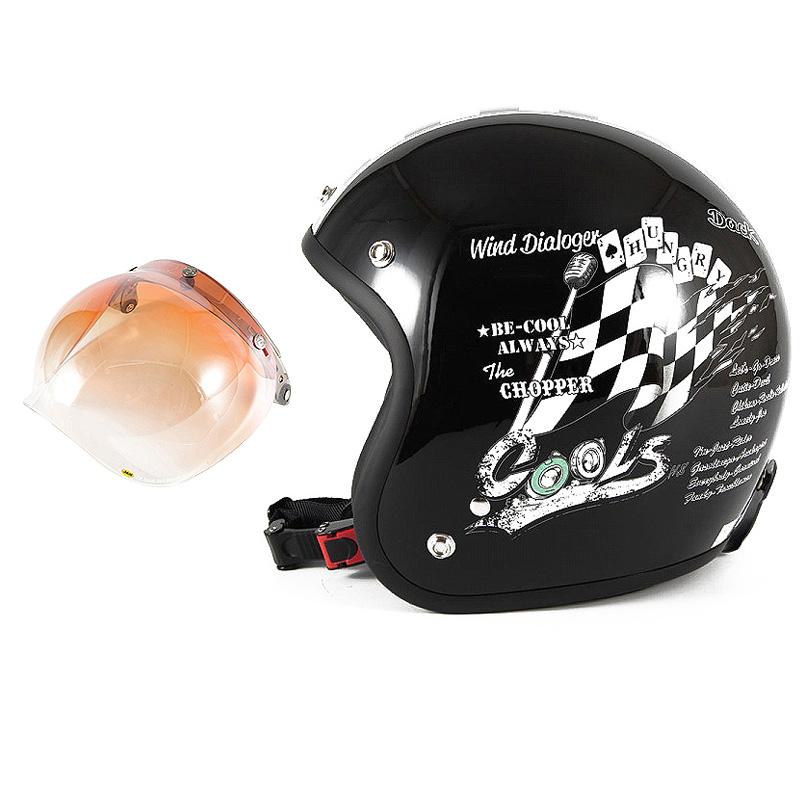 72JAM デザイナーズジェットヘルメット [HMW-05] 開閉シールド付き [JCBN-04]COOLS WIND DIALOGER ウィンドダイアロガー ブラック [ブラックベースグロス仕上げ]2サイズ メンズ レディース 兼用品 SG規格 全排気量対応