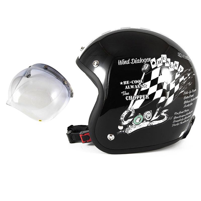 72JAM デザイナーズジェットヘルメット [HMW-05] 開閉シールド付き [JCBN-05]COOLS WIND DIALOGER ウィンドダイアロガー ブラック [ブラックベースグロス仕上げ]2サイズ メンズ レディース 兼用品 SG規格 全排気量対応