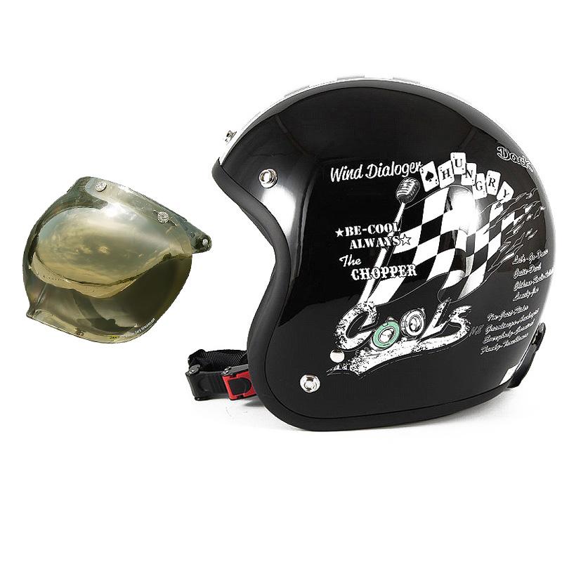72JAM デザイナーズジェットヘルメット [HMW-05] 開閉シールド付き [JCBN-06]COOLS WIND DIALOGER ウィンドダイアロガー ブラック [ブラックベースグロス仕上げ]2サイズ メンズ レディース 兼用品 SG規格 全排気量対応