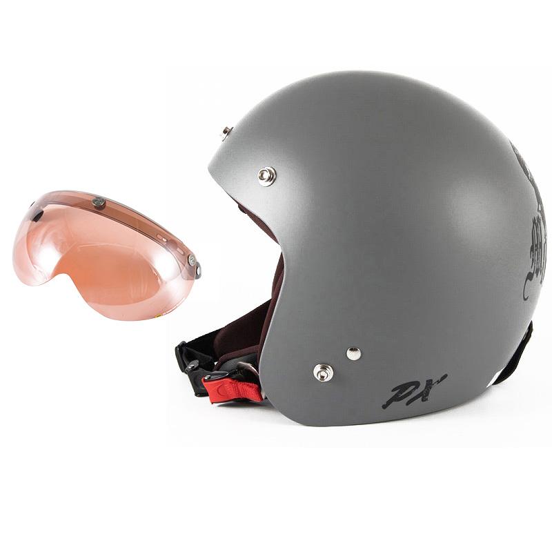 72JAM デザイナーズジェットヘルメット [IK-01] 開閉シールド付き [APS-05]IKURA Moon dogs イクラムーンドッグス グレー [クールグレーベースマット仕上げ]FREEサイズ(57-60cm未満) メンズ レディース 兼用品 SG規格 全排気量対応