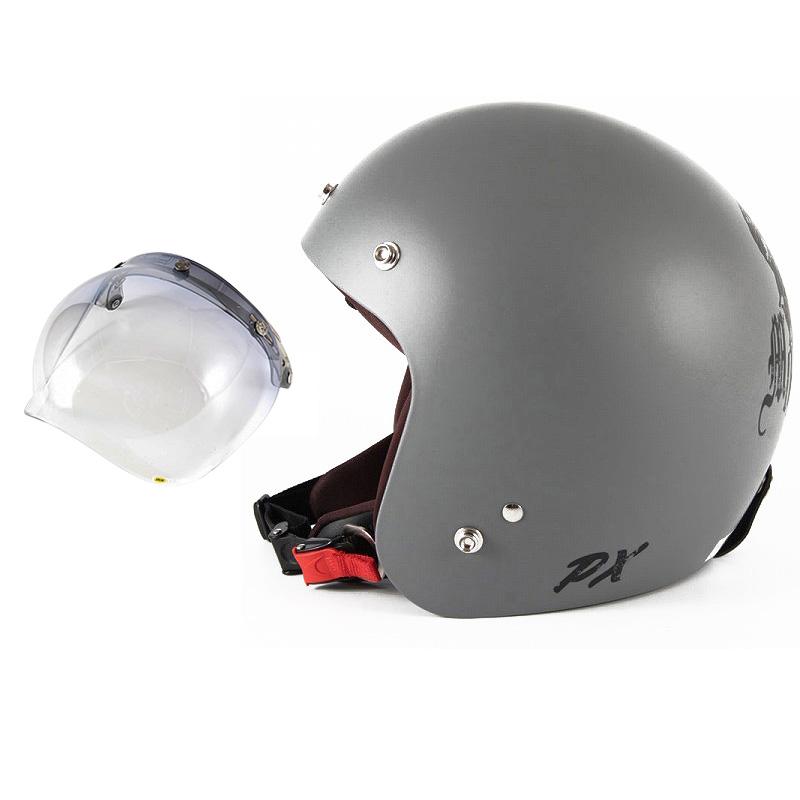 72JAM デザイナーズジェットヘルメット [IK-01] 開閉シールド付き [JCBN-05]IKURA Moon dogs イクラムーンドッグス グレー [クールグレーベースマット仕上げ]FREEサイズ(57-60cm未満) メンズ レディース 兼用品 SG規格 全排気量対応