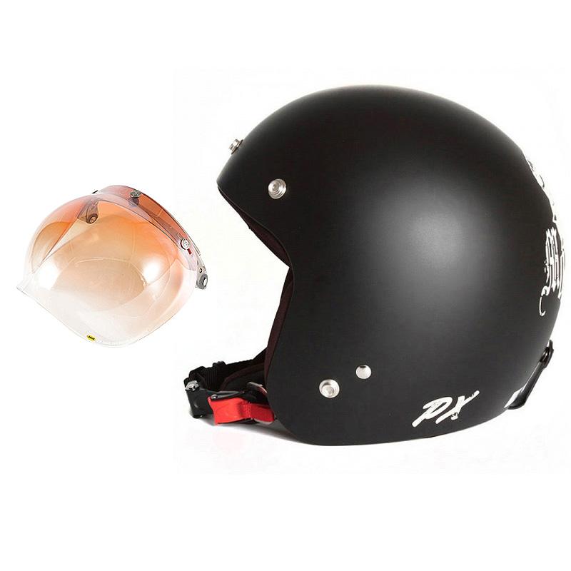 72JAM デザイナーズジェットヘルメット [IK-02] 開閉シールド付き [JCBN-04]IKURA Moon dogs イクラムーンドッグス ブラック [クールブラックベースマット仕上げ]FREEサイズ(57-60cm未満) メンズ レディース 兼用品 SG規格 全排気量対応