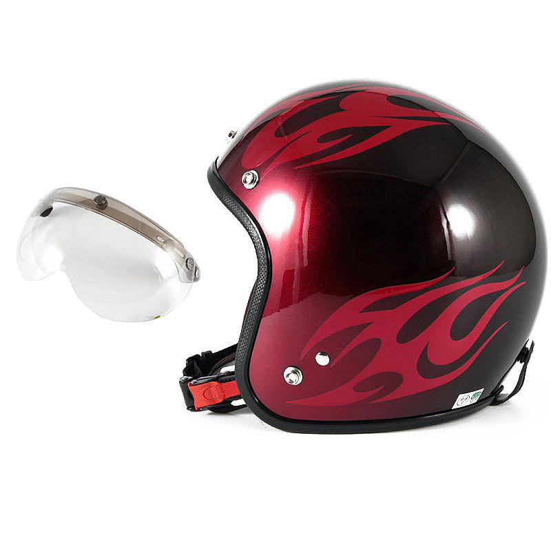 72JAM デザイナーズジェットヘルメット [JCP-01] 開閉シールド付き [APS-03]BURNS バーンズ レッド [キャンディーレッドベースグロス仕上げ]FREEサイズ(57-60cm未満) メンズ レディース 兼用品 SG規格 全排気量対応