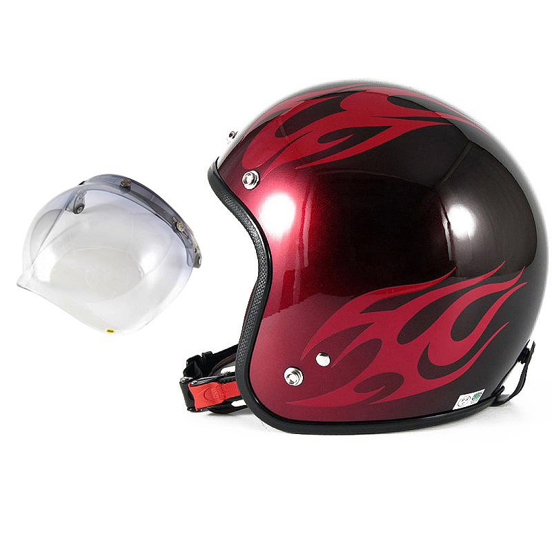 72JAM デザイナーズジェットヘルメット [JCP-01] 開閉シールド付き [JCBN-05]BURNS バーンズ レッド [キャンディーレッドベースグロス仕上げ]FREEサイズ(57-60cm未満) メンズ レディース 兼用品 SG規格 全排気量対応