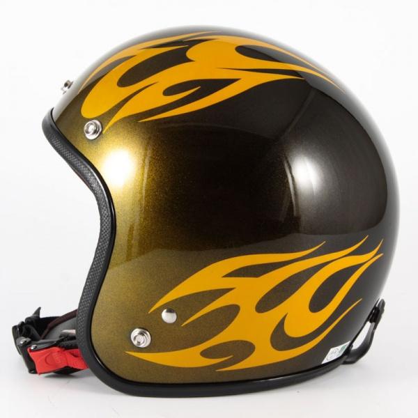ジャムテックジャパン 72JAM JCP-02BURNS バーンズ イエロー ジェットヘルメット [キャンディーイエローベースグロス仕上げ]FREEサイズ(57-60cm未満) メンズ レディース 兼用品 SG規格 全排気量対応