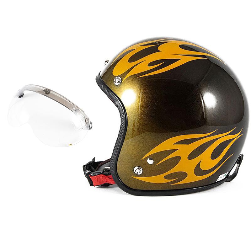 72JAM デザイナーズジェットヘルメット [JCP-02] 開閉シールド付き [APS-01]BURNS バーンズ イエロー [キャンディーイエローベースグロス仕上げ]FREEサイズ(57-60cm未満) メンズ レディース 兼用品 SG規格 全排気量対応