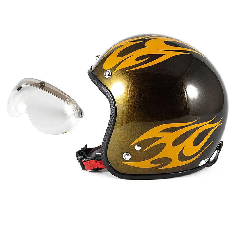 72JAM デザイナーズジェットヘルメット [JCP-02] 開閉シールド付き [APS-03]BURNS バーンズ イエロー [キャンディーイエローベースグロス仕上げ]FREEサイズ(57-60cm未満) メンズ レディース 兼用品 SG規格 全排気量対応
