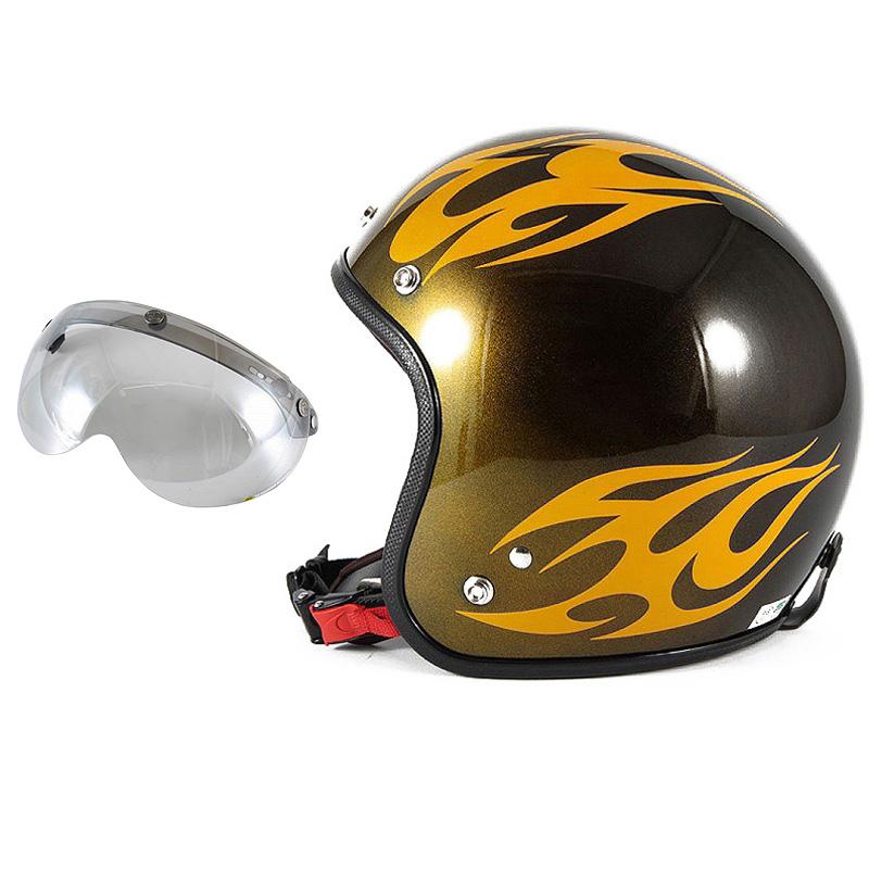 72JAM デザイナーズジェットヘルメット [JCP-02] 開閉シールド付き [APS-04]BURNS バーンズ イエロー [キャンディーイエローベースグロス仕上げ]FREEサイズ(57-60cm未満) メンズ レディース 兼用品 SG規格 全排気量対応