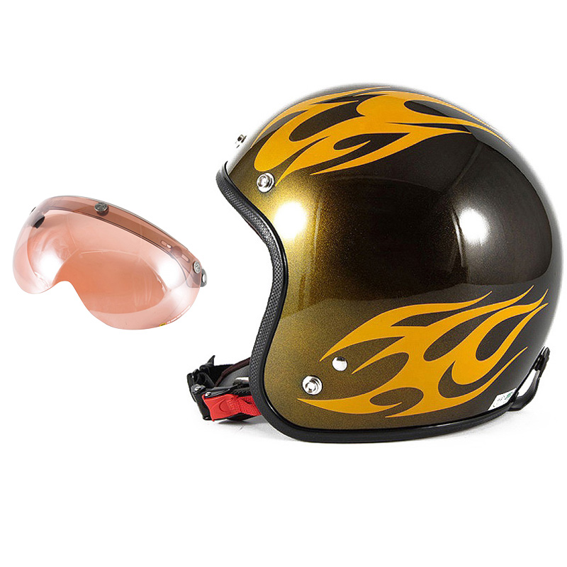 72JAM デザイナーズジェットヘルメット [JCP-02] 開閉シールド付き [APS-05]BURNS バーンズ イエロー [キャンディーイエローベースグロス仕上げ]FREEサイズ(57-60cm未満) メンズ レディース 兼用品 SG規格 全排気量対応