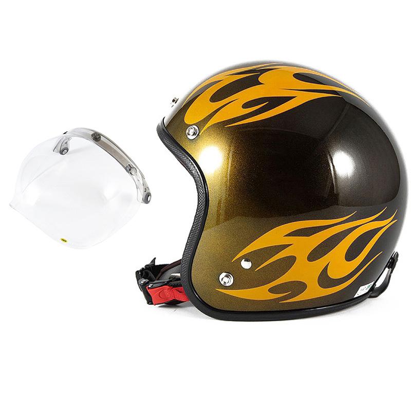 72JAM デザイナーズジェットヘルメット [JCP-02] 開閉シールド付き [JCBN-01]BURNS バーンズ イエロー [キャンディーイエローベースグロス仕上げ]FREEサイズ(57-60cm未満) メンズ レディース 兼用品 SG規格 全排気量対応