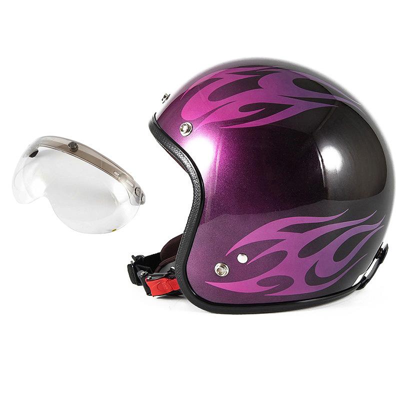 72JAM デザイナーズジェットヘルメット [JCP-03] 開閉シールド付き [APS-03]BURNS バーンズ ピンク [キャンディーピンクベースグロス仕上げ]FREEサイズ(57-60cm未満) メンズ レディース 兼用品 SG規格 全排気量対応
