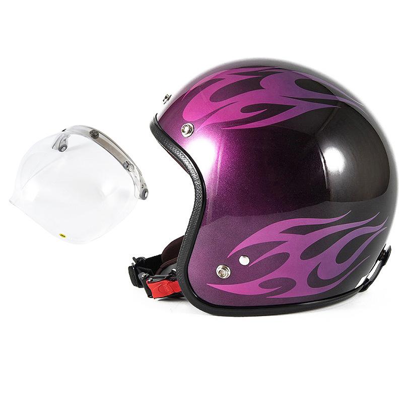72JAM デザイナーズジェットヘルメット [JCP-03] 開閉シールド付き [JCBN-01]BURNS バーンズ ピンク [キャンディーピンクベースグロス仕上げ]FREEサイズ(57-60cm未満) メンズ レディース 兼用品 SG規格 全排気量対応