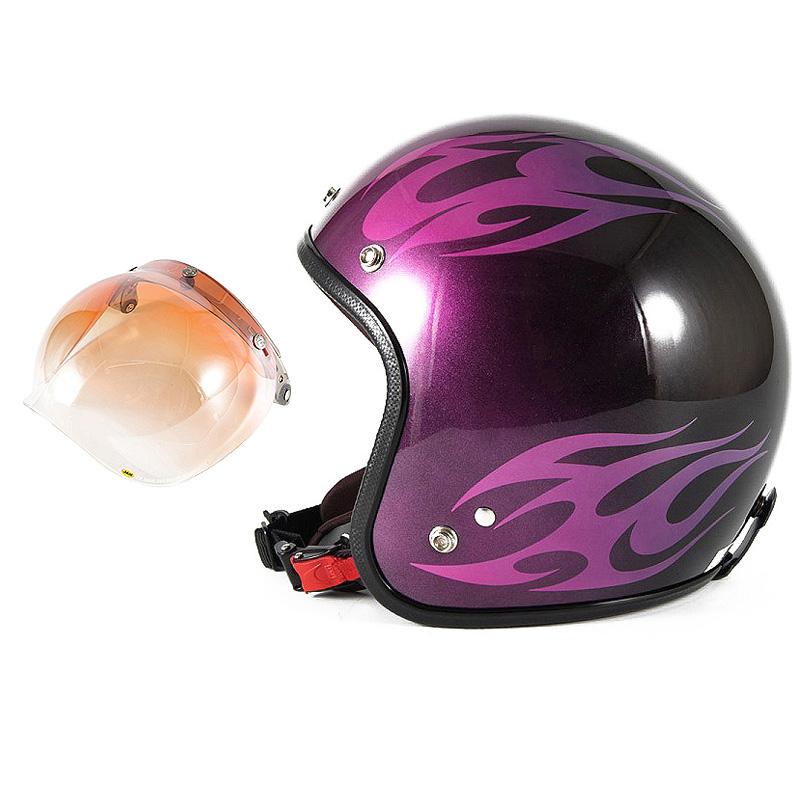 72JAM デザイナーズジェットヘルメット [JCP-03] 開閉シールド付き [JCBN-04]BURNS バーンズ ピンク [キャンディーピンクベースグロス仕上げ]FREEサイズ(57-60cm未満) メンズ レディース 兼用品 SG規格 全排気量対応