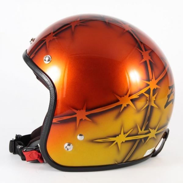 ジャムテックジャパン 72JAM JCP-05ZEKE ジーク オレンジ ジェットヘルメット [ゴールド/オレンジベースグロス仕上げ]FREEサイズ(57-60cm未満) メンズ レディース 兼用品 SG規格 全排気量対応