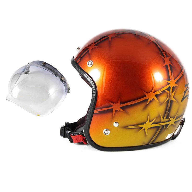 72JAM デザイナーズジェットヘルメット [JCP-05] 開閉シールド付き [JCBN-05]ZEKE ジーク オレンジ [ゴールド/オレンジベースグロス仕上げ]FREEサイズ(57-60cm未満) メンズ レディース 兼用品 SG規格 全排気量対応