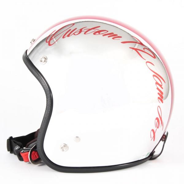 ジャムテックジャパン 72JAM JCP-07CHROMES CM/RD クロームズ レッド ジェットヘルメット [クロームメッキベースグロス仕上げ]FREEサイズ(57-60cm未満) メンズ レディース 兼用品 SG規格 全排気量対応