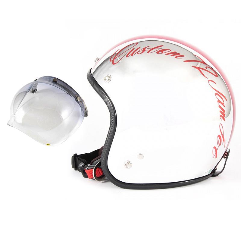 72JAM デザイナーズジェットヘルメット [JCP-07] 開閉シールド付き [JCBN-05]CHROMES CM/RD クロームズ レッド [クロームメッキベースグロス仕上げ]FREEサイズ(57-60cm未満) メンズ レディース 兼用品 SG規格 全排気量対応