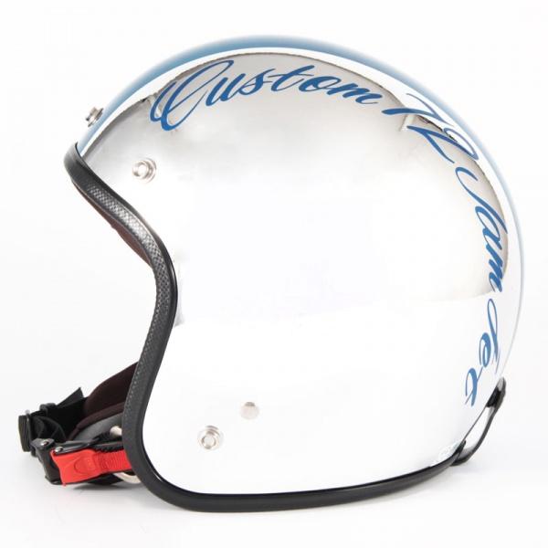ジャムテックジャパン 72JAM JCP-08CHROMES CM/BL クロームズ ブルー ジェットヘルメット [クロームメッキベースグロス仕上げ]FREEサイズ(57-60cm未満) メンズ レディース 兼用品 SG規格 全排気量対応