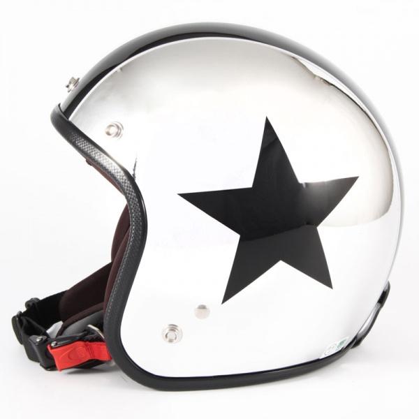 ジャムテックジャパン 72JAM JCP-10CHROMES TWIN STAR クロームズツインスター メッキ ジェットヘルメット [クロームメッキベースグロス仕上げ]FREEサイズ(57-60cm未満) メンズ レディース 兼用品 SG規格 全排気量対応