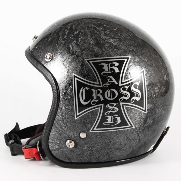 ジャムテックジャパン 72JAM JCP-12RASH CROSS ラッシュクロス シルバー ジェットヘルメット [シルバーラップベースグロス仕上げ]FREEサイズ(57-60cm未満) メンズ レディース 兼用品 SG規格 全排気量対応