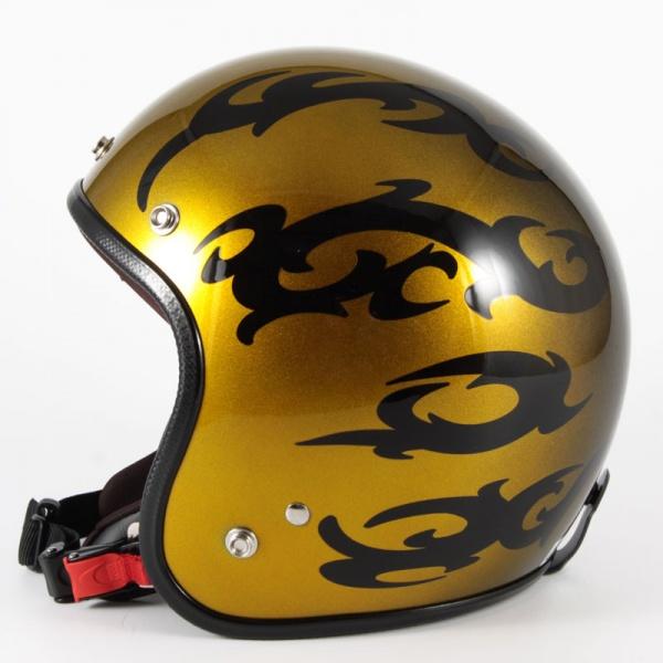 ジャムテックジャパン 72JAM JCP-23TRIBAL トライバル ゴールド ジェットヘルメット [キャンディーゴールドグラデーションベースグロス仕上げ]FREEサイズ(57-60cm未満) メンズ レディース 兼用品 SG規格 全排気量対応