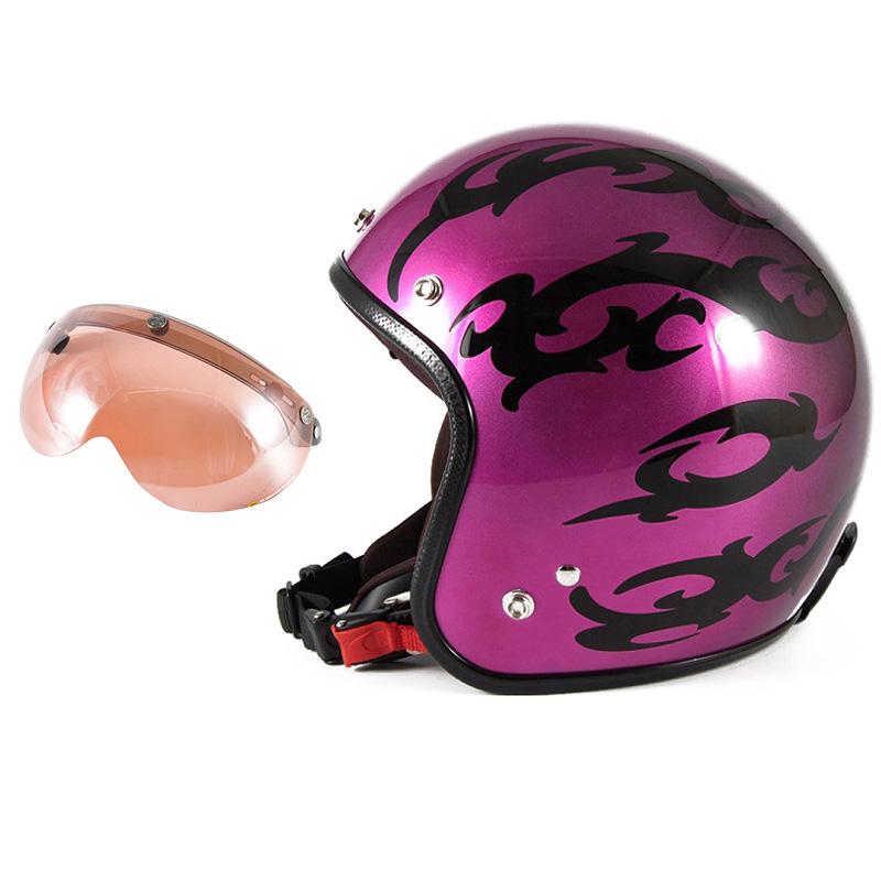 72JAM デザイナーズジェットヘルメット [JCP-24] 開閉シールド付き [APS-05]TRIBAL トライバル パープル [キャンディーマゼンタグラデーションベースグロス仕上げFREEサイズ(57-60cm未満) メンズ レディース 兼用品 SG規格 全排気量対応
