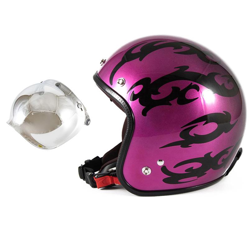 72JAM デザイナーズジェットヘルメット [JCP-24] 開閉シールド付き [JCBN-02]TRIBAL トライバル パープル [キャンディーマゼンタグラデーションベースグロス仕上げFREEサイズ(57-60cm未満) メンズ レディース 兼用品 SG規格 全排気量対応