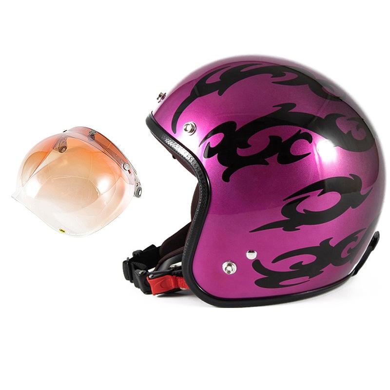 72JAM デザイナーズジェットヘルメット [JCP-24] 開閉シールド付き [JCBN-04]TRIBAL トライバル パープル [キャンディーマゼンタグラデーションベースグロス仕上げFREEサイズ(57-60cm未満) メンズ レディース 兼用品 SG規格 全排気量対応