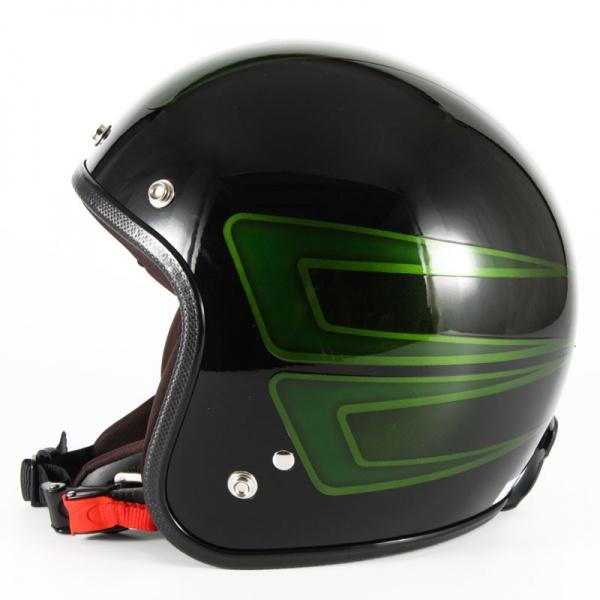 ジャムテックジャパン 72JAM JCP-31SCALLOP スキャロップ グリーン ジェットヘルメット [ブラックベースグロス仕上げ]FREEサイズ(57-60cm未満) メンズ レディース 兼用品 SG規格 全排気量対応