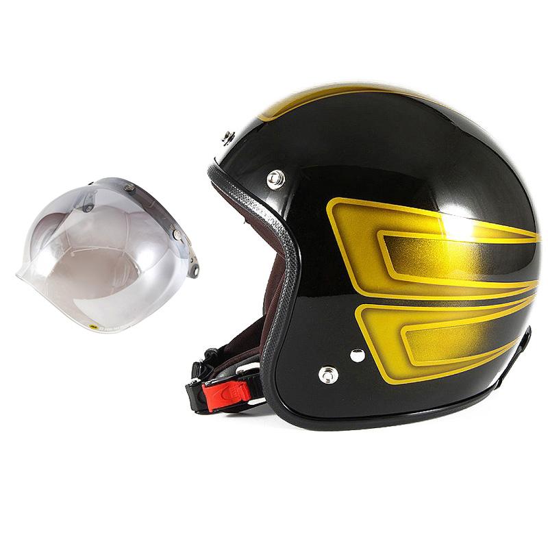 72JAM デザイナーズジェットヘルメット [JCP-32] 開閉シールド付き [JCBN-03]SCALLOP スキャロップ イエロー [ブラックベースグロス仕上げ]FREEサイズ(57-60cm未満) メンズ レディース 兼用品 SG規格 全排気量対応