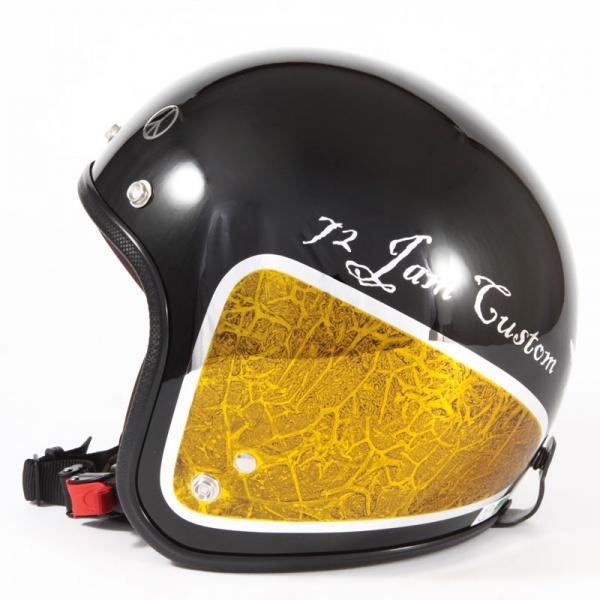 ジャムテックジャパン 72JAM JCP-34WEED ウィード イエロー ジェットヘルメット [ブラックベース/イエローラップグロス仕上げ]FREEサイズ(57-60cm未満) メンズ レディース 兼用品 SG規格 全排気量対応
