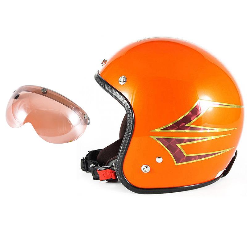 72JAM デザイナーズジェットヘルメット [JCP-37] 開閉シールド付き [APS-05]Spindle スピンドル サンセットオレンジ [サンセットオレンジベースグロス仕上げ]FREEサイズ(57-60cm未満) メンズ レディース 兼用品 SG規格 全排気量対応
