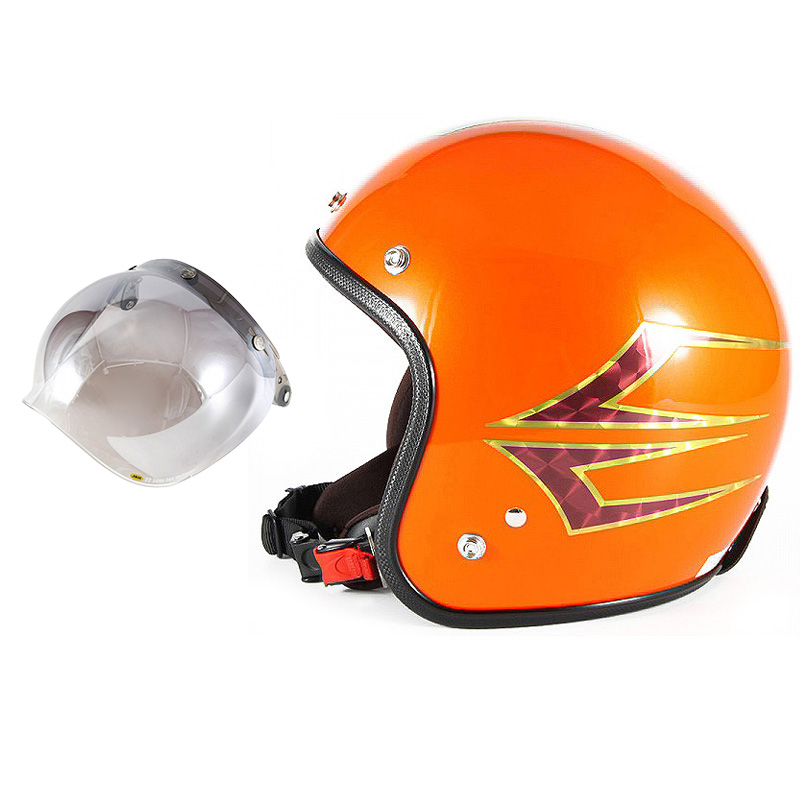 72JAM デザイナーズジェットヘルメット [JCP-37] 開閉シールド付き [JCBN-03]Spindle スピンドル サンセットオレンジ [サンセットオレンジベースグロス仕上げ]FREEサイズ(57-60cm未満) メンズ レディース 兼用品 SG規格 全排気量対応