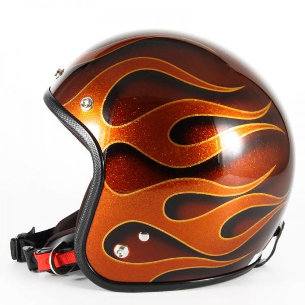 ジャムテックジャパン 72JAM JCP-43FLAMES フレイムス オレンジ ジェットヘルメット [オレンジフレークベースグロス仕上げ]FREEサイズ(57-60cm未満) メンズ レディース 兼用品 SG規格 全排気量対応