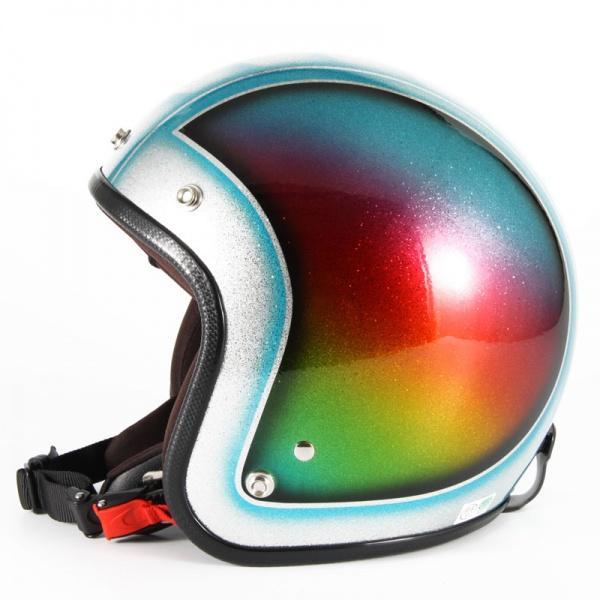 ジャムテックジャパン 72JAM JCP-48Metal Snake メタルスネーク ブルー ジェットヘルメット [ブルーシルバーフレークベースグロス仕上げ]FREEサイズ(57-60cm未満) メンズ レディース 兼用品 SG規格 全排気量対応